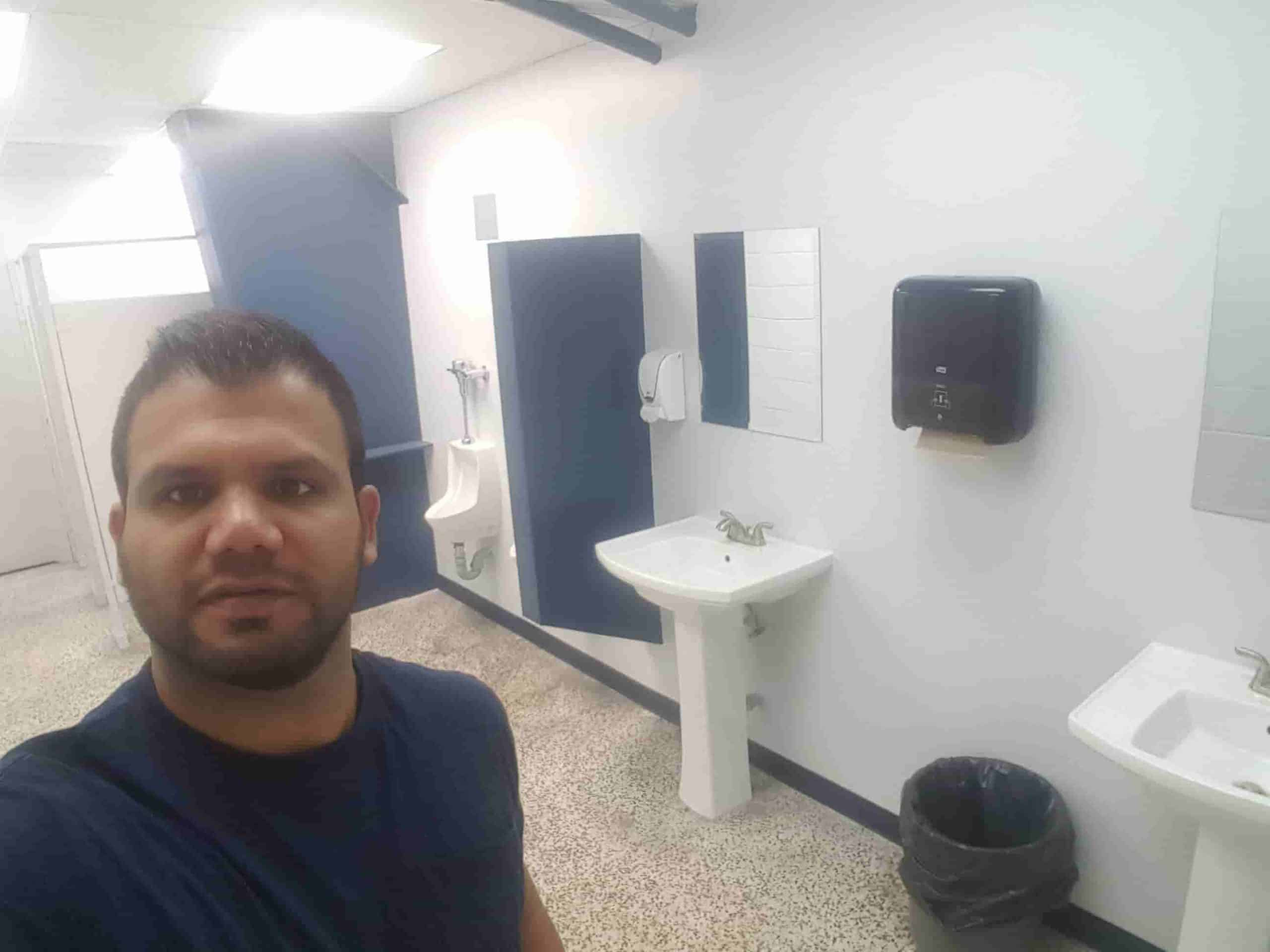 Plumbing of the new washroom at billy bishop Toronto airport